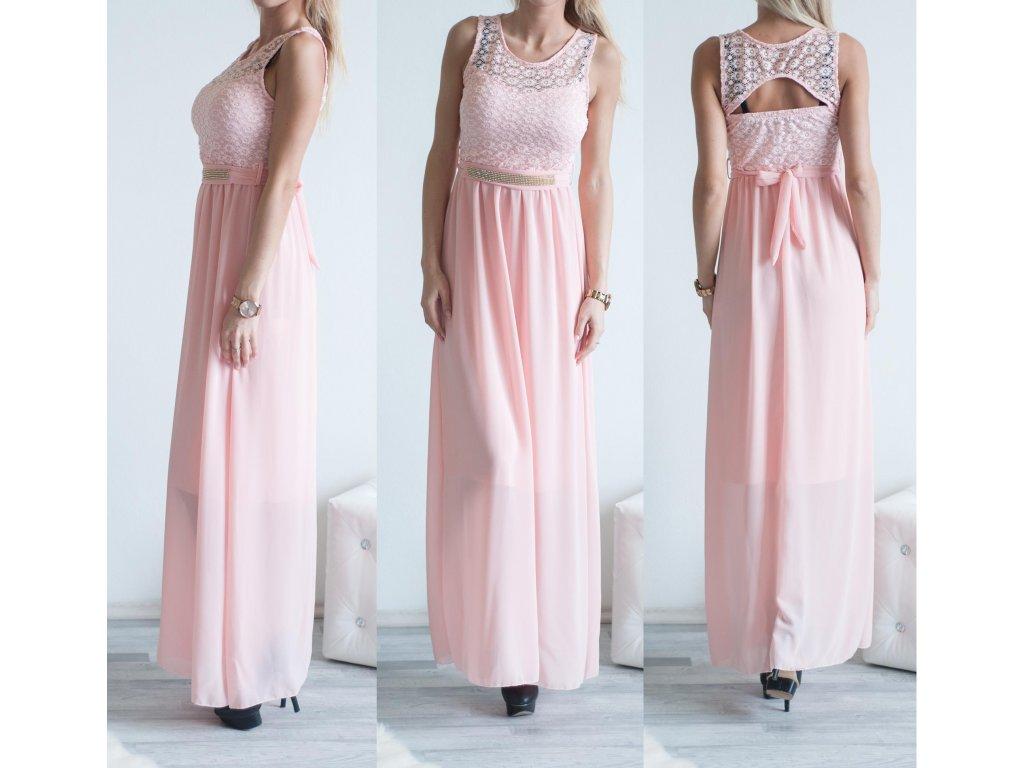 Plesové šatečky Steff ST313 světle růžová