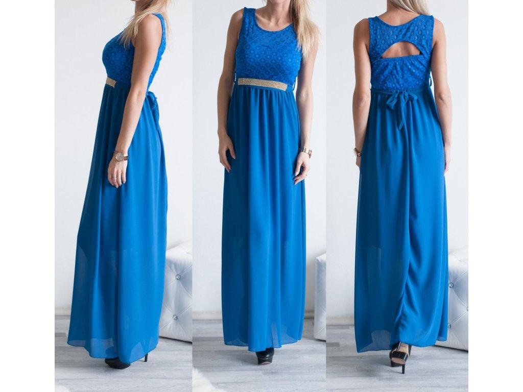 Plesové šatečky Steff ST313 modrá