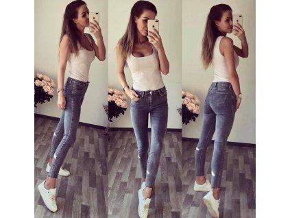 džíny šedé