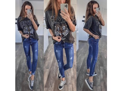Nové džíny modré