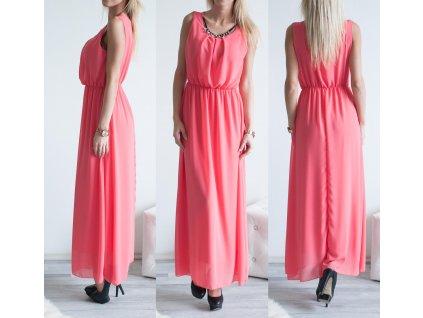 Šaty Elegant Long ST411 lososová