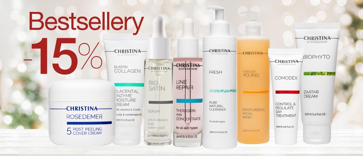 Bestsellery kosmetiky CHRISTINA v akci