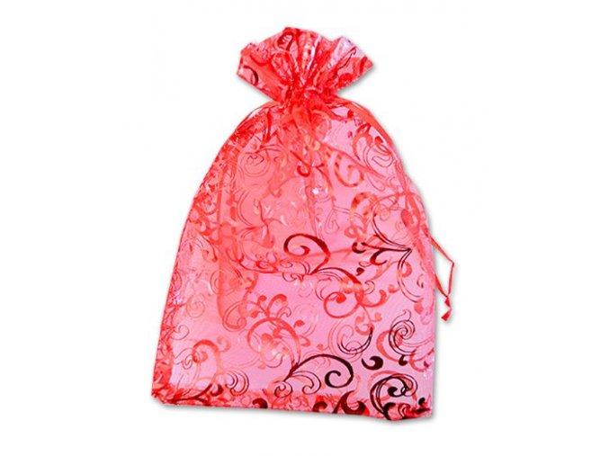 Dárkový sáček 15x23cm červený s potiskem