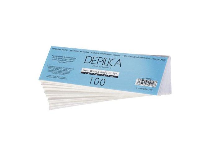 Depilační pásky znetkané textilie na tělo, 100ks
