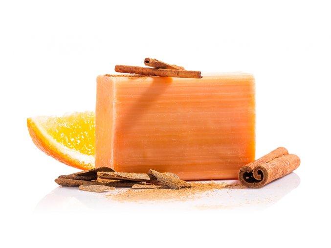 ornage cinnamon mydlo