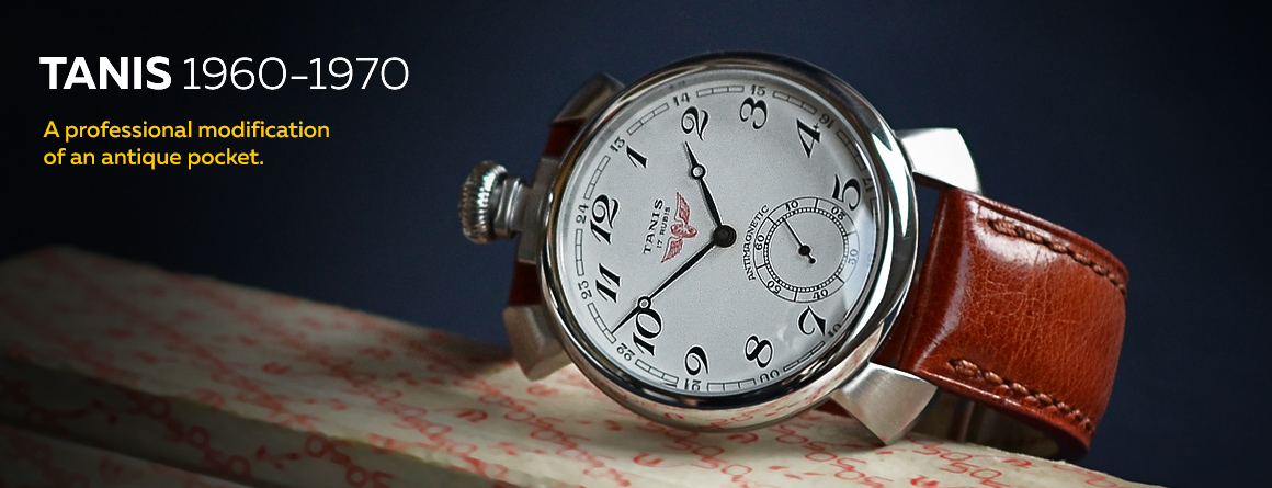 A professional modification of an antique pocket TANIS watch from 1960-1970