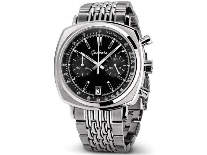 Geckota watch watch  C-01 SII VK64 Racing Chronograph Watch Steel