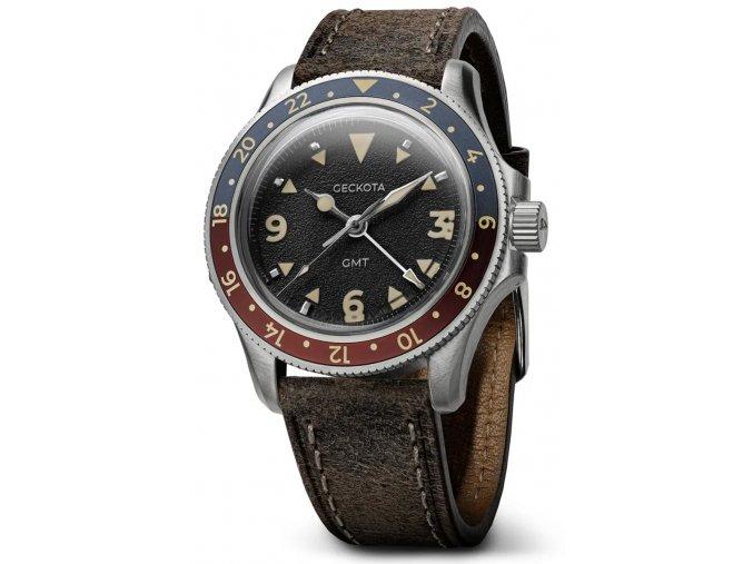 Geckota watch watch  G-02 GMT Black
