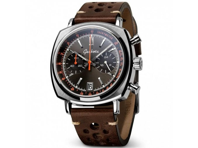 Geckota watch watch  C-01 SII Racing Chronograph Vintage Brown