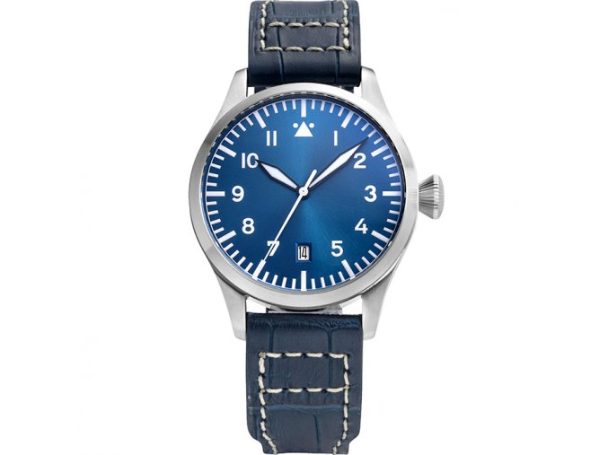 Watch Tisell  Pilot Watch 40 mm Blue Date
