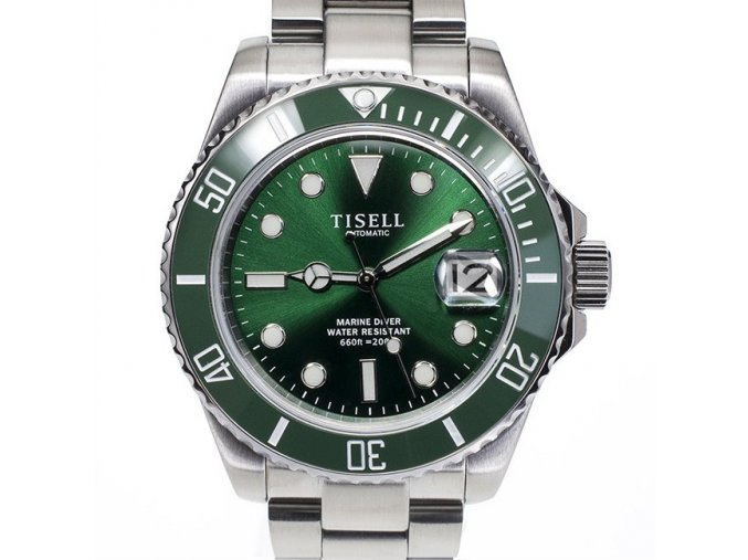Watch Tisell  Automatic Diver Watch Green 40 mm