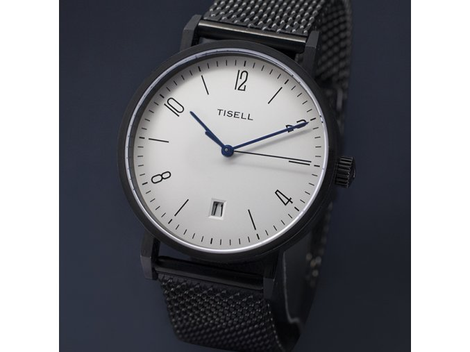 Watch Tisell  Automatic Watch No.9015 Bauhaus Design 38 mm case PVD Black