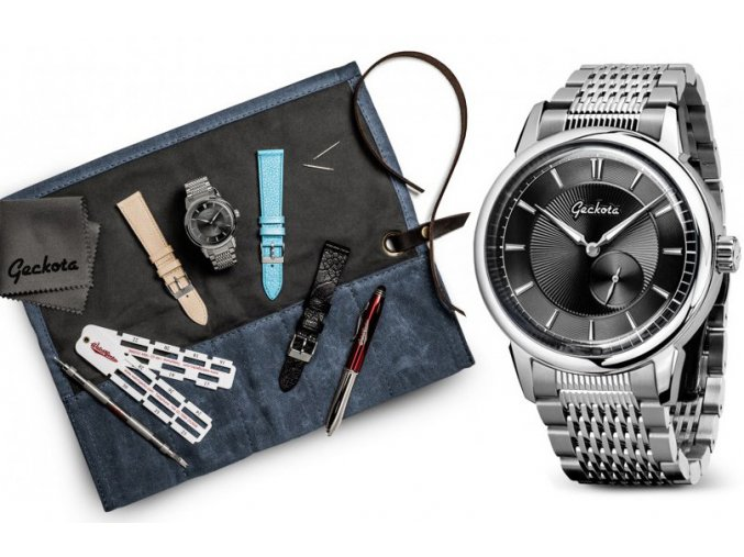 Geckota P-01 Small Seconds Automatic Watch Gift Set