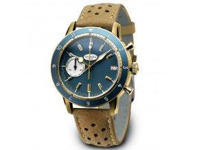 PROTOTYPE: Geckota C-05 VK64 Vintage Chronograph Blue Gold