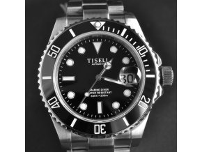 TISELL Automatic Diver Watch Black 40 mm