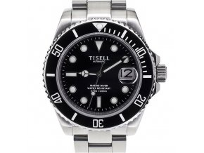 Watch Tisell  Automatic Diver Watch Black 40 mm