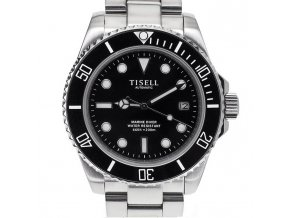 Watch Tisell  Automatic Diver Watch Black 40 mm, date without cyclops
