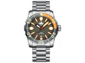 Phoibos Great Wall Diver 500M PY022D Grey-Orange
