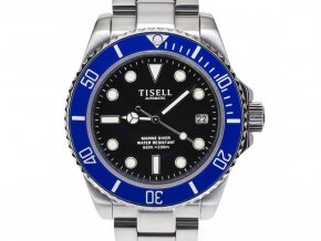 TISELL Automatic Diver Watch Blue-Black 40 mm