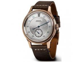 Geckota watch watch  W-01 Vintage Jumping Hour Automatic Dress Watch Rose Gold