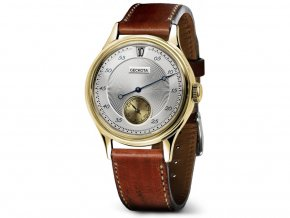 Geckota W-01 Vintage Jumping Hour Automatic Dress Watch Gold