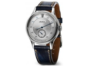 845 geckota w 01 vintage jumping hour automatic dress watch silver