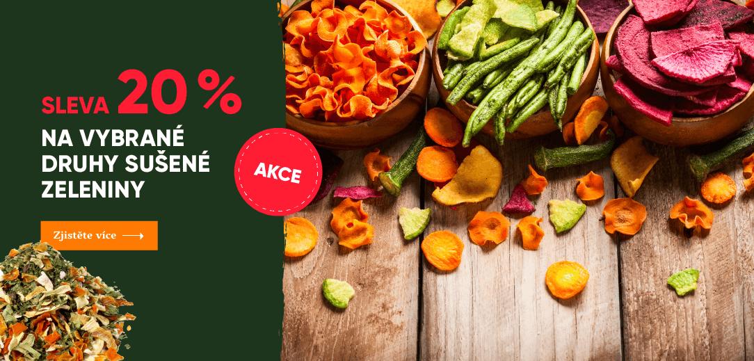 20% sleva na sušenou zeleninu