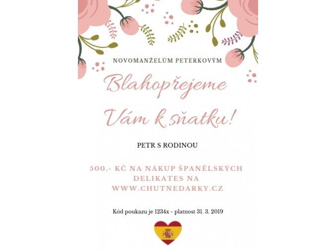 Dárkový poukaz Svatba I