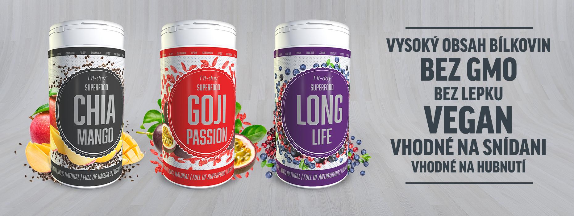 fit-day superfood goji, chia, long life vegan