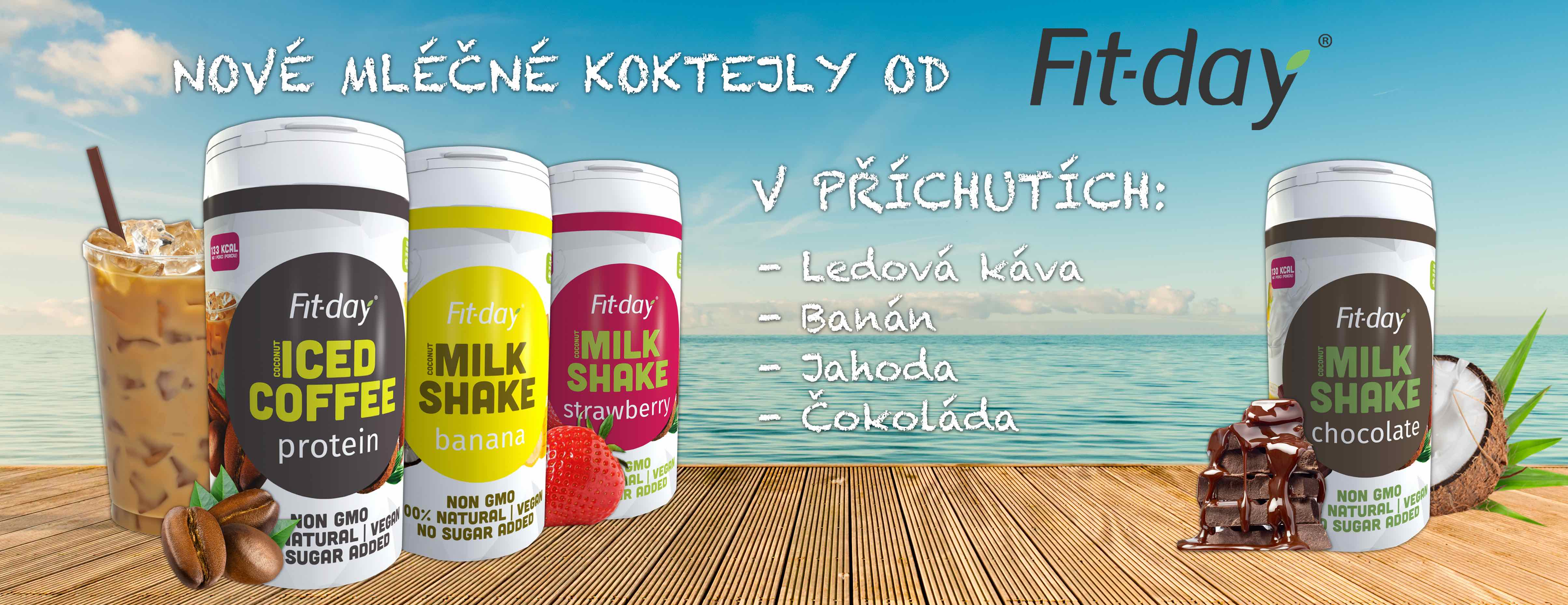 Fit-day mléčné koktejly