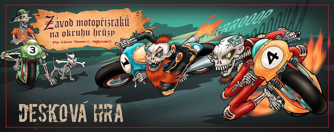 Závody motopřízraků na okruhu hrůzy