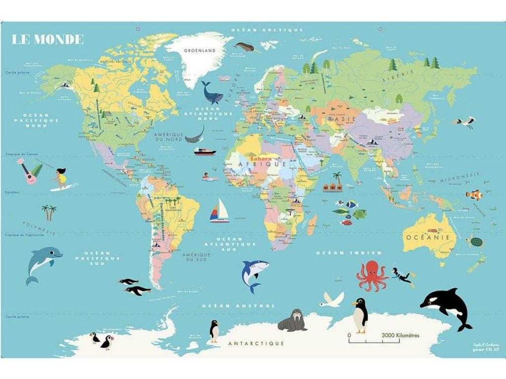 10298 magneticka nastenna puzzle mapa sveta
