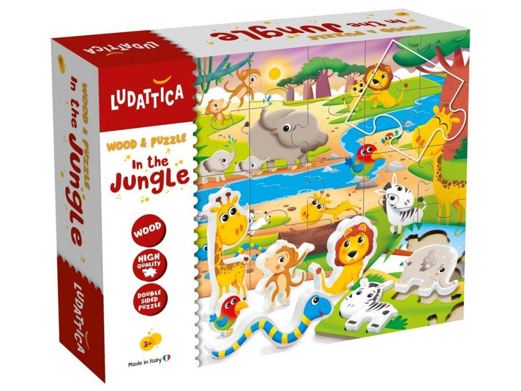 10634 set puzzle ludaticca drevene vkladaci a oboustranne klasicke 6 ks