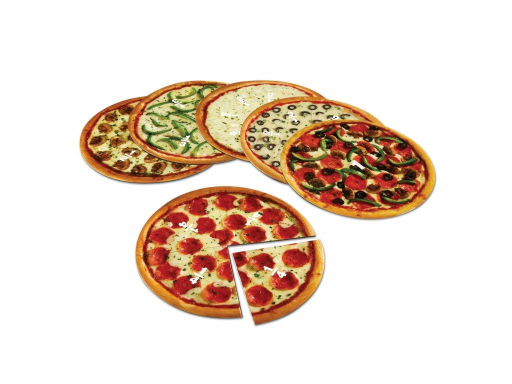 10743 magneticke pizza dilky na uceni zlomku
