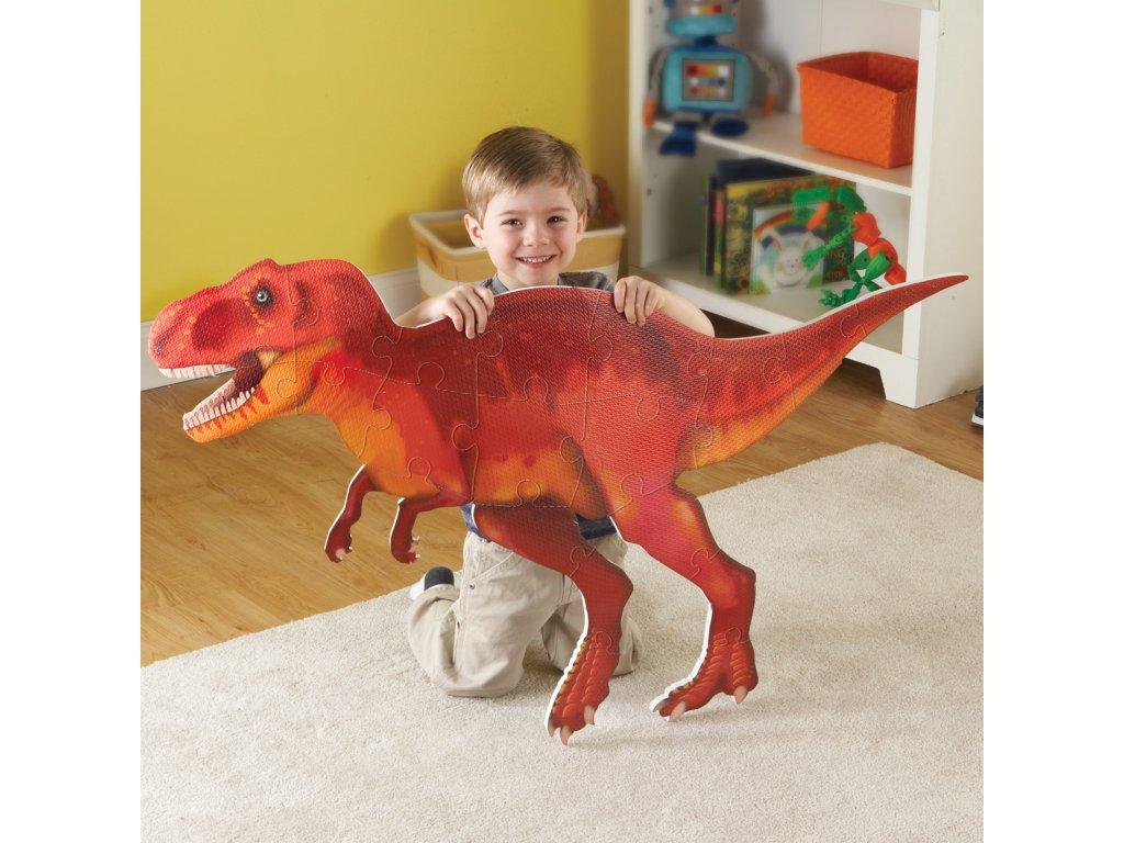 10779 3 obri oboustranne podlahove penove puzzle dinosaurus t rex