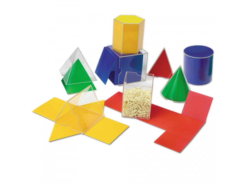 Set geometrických tvarů a plášťů Folding Geometric Shapes™ (16 dílů)