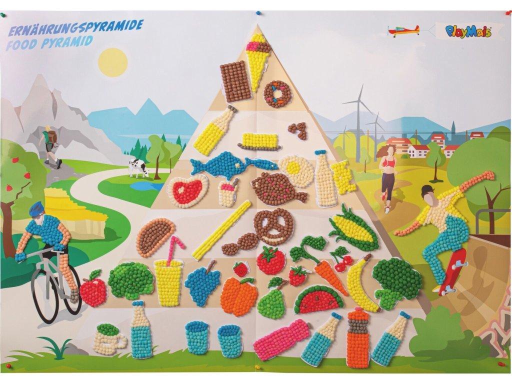 """""""Pyramida zdravé výživy"""" k dotvoření Playmais® Classic"""