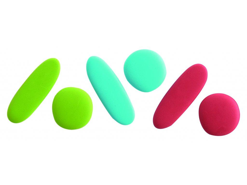 Oblázky Rainbow Pebbles v pastelových barvách - 36 kusů