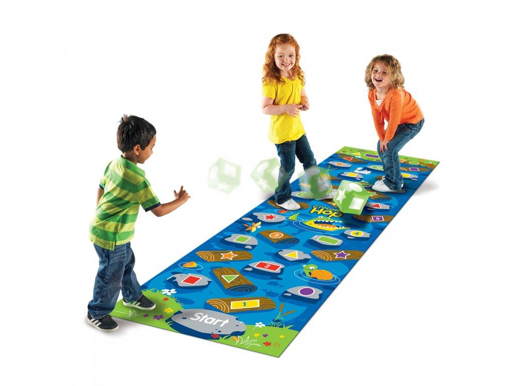 """""""Krokodýl, Hop!"""" Pohybová hra Crocodile Hop™ Learning Resources"""