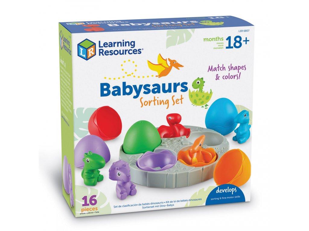 Třídíme dinosaury - dinosauři ve vajíčkách