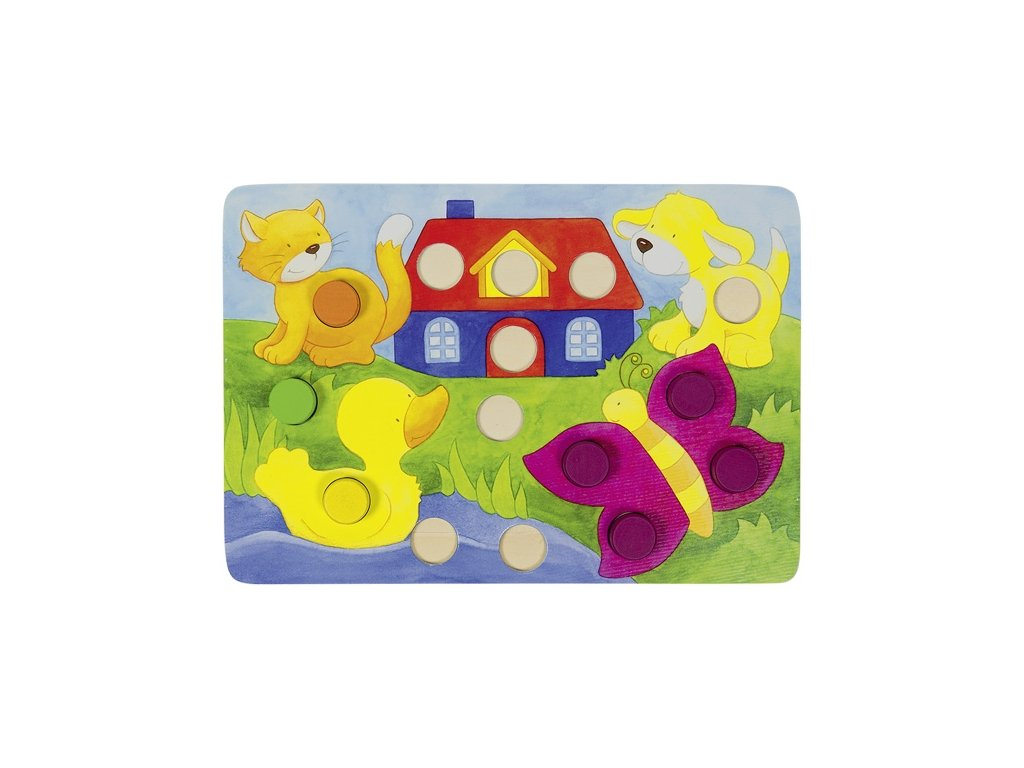 6244 mozaika barevna 4 hraci 4 desky 77dilu 21 x 14 cm