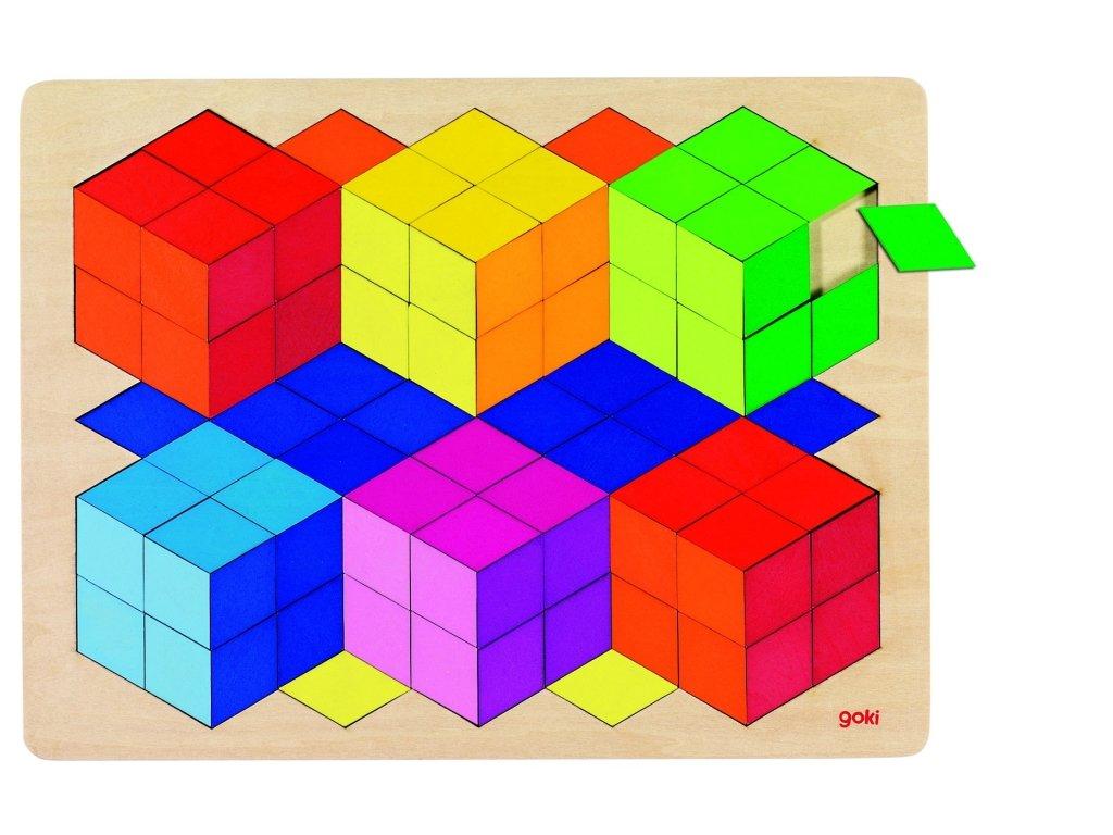 6430 3d barevne puzzle 86 dilku 40 x 30 cm
