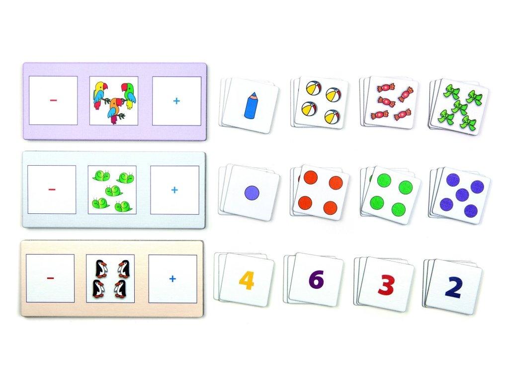 6445 o jednu mene o jednu vice 12 instruktaznich karet a 35 malych karticek