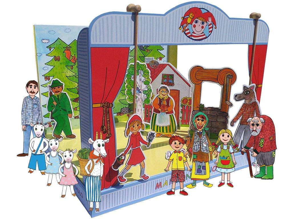 6634 loutkove divadlo marionetino de lux cervena karkulka pernikova chaloupka a o neposlusnych kuzlatkach