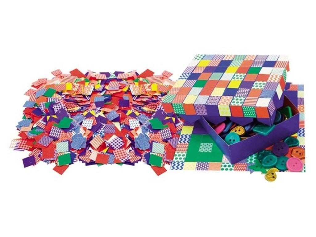 Kreativní sada malých papírových vzorů mozaiky