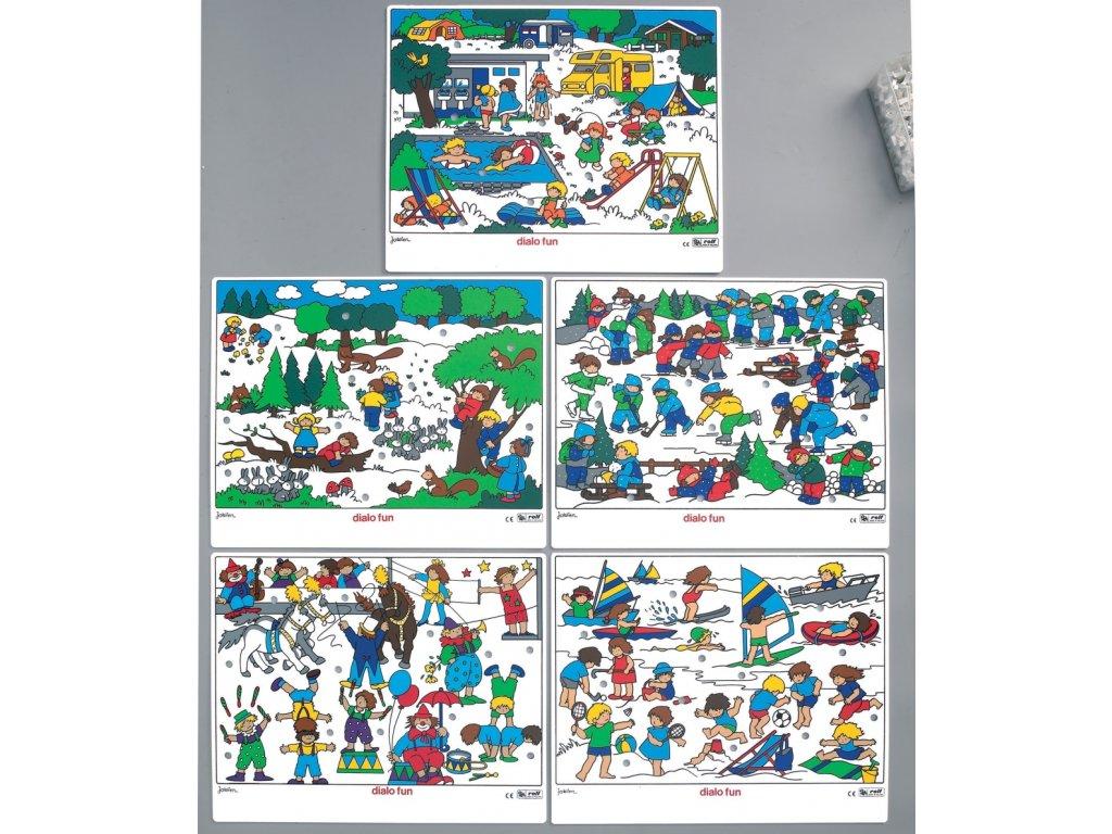7162 dialog fun rocni obdobi komunikacni hra 5 desek barevne kolicky