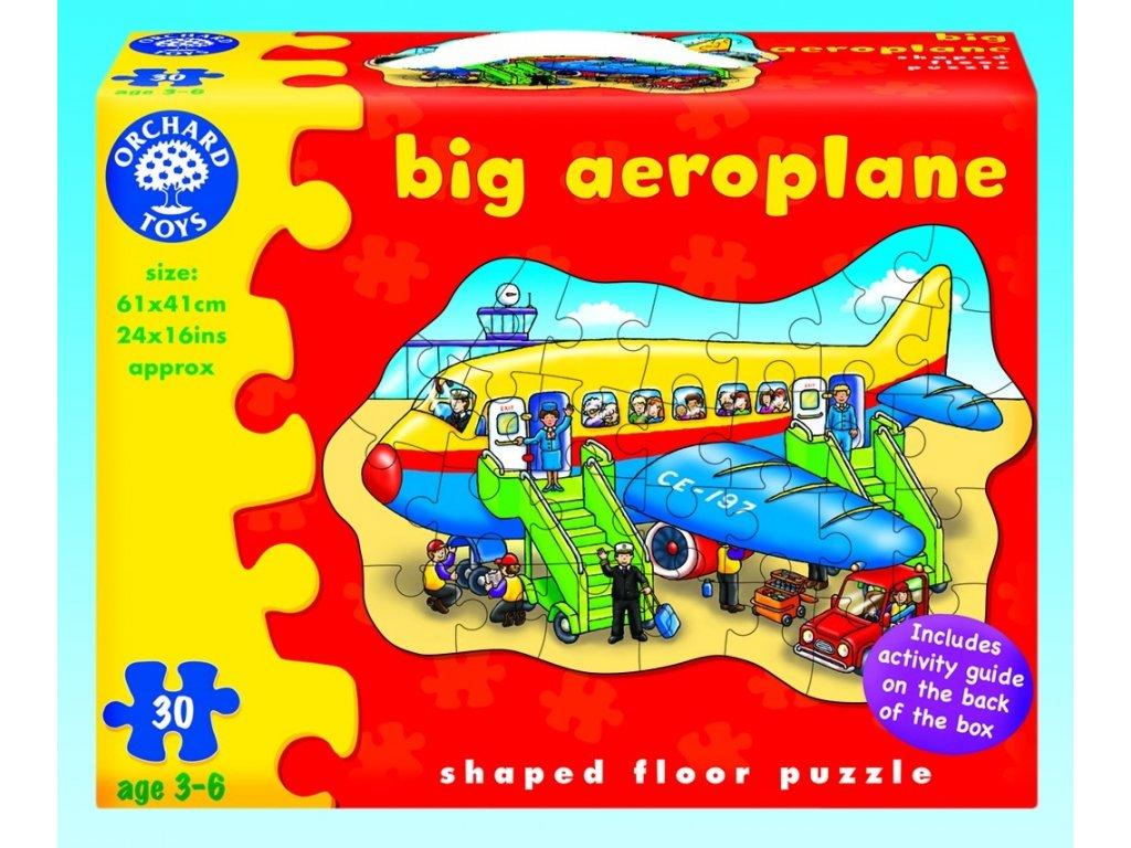 7252 letadlo kartonove puzzle 30 dilku 61 x 41 cm