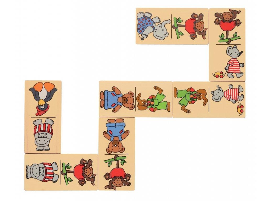 Domino Zoo zvířátka - 28 kusů