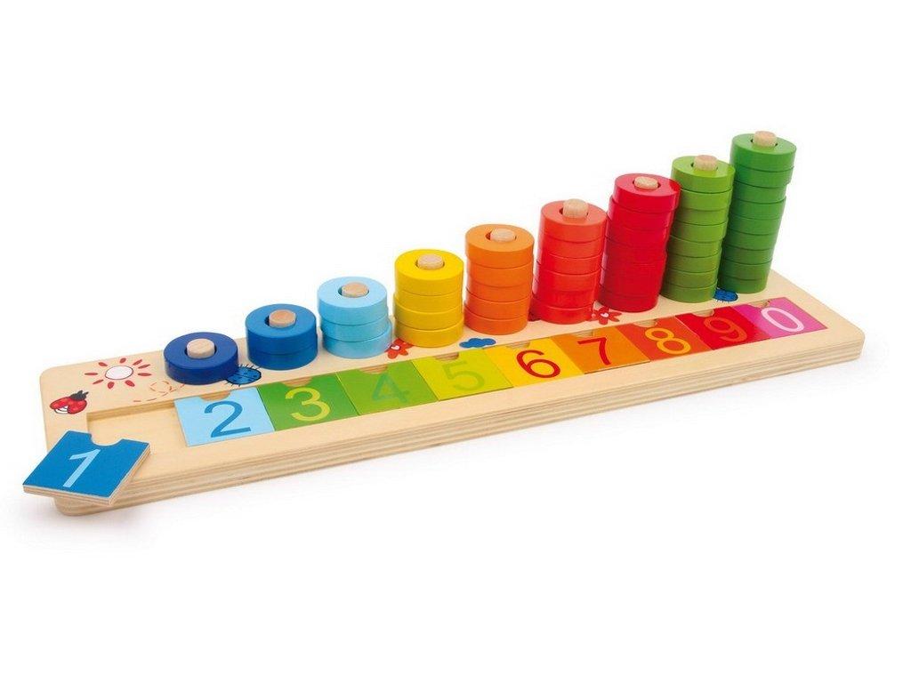 7501 pocitaci deska s barevnymi spalicky 41 x 10 x 11 cm