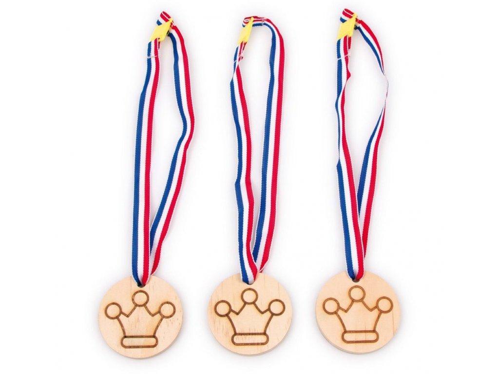 7525 medaile symbol koruna sada 3 kusu 57 cm dlouha 7 cm